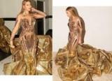 Подобно Египетской королевы: Бейонсе в золотом платье порадовала фанатов